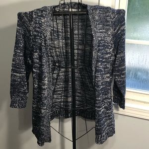 Kim Rogers Open Front Sweater/Cardigan Office Work
